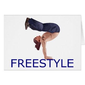 Freestyle Breakdancing  B Boy Card