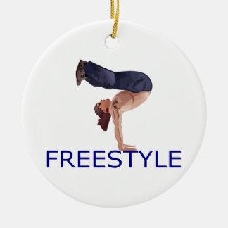 Freestyle Breakdancing  B Boy Ceramic Ornament
