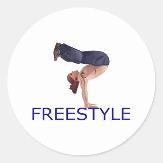 Freestyle Breakdancing  B Boy Classic Round Sticker