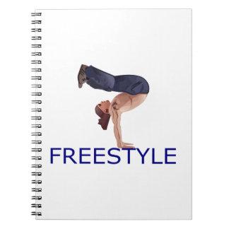 Freestyle Breakdancing  B Boy Spiral Notebooks