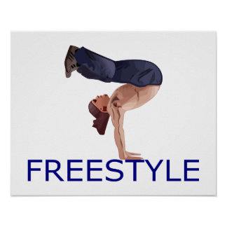 Freestyle Breakdancing  B Boy Poster
