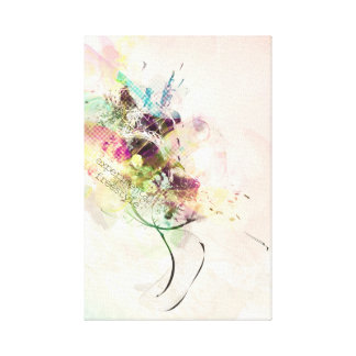 Freestyle Experimental Stretched Canvas Print