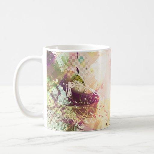 freestyle experimental design classic white coffee mug