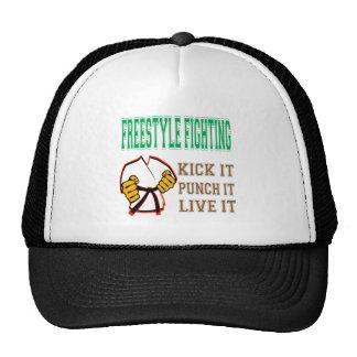 Freestyle Fighting Kick it, Punch it, Live it Trucker Hat