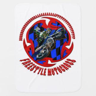 Freestyle motocross bbrrrrraaaaaaappppp baby blanket