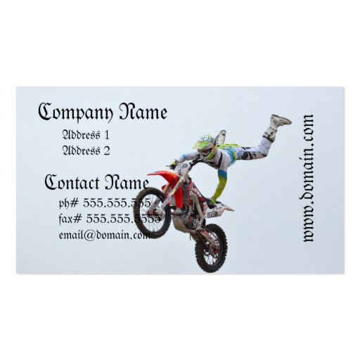 Freestyle Motocross Business Card Templates