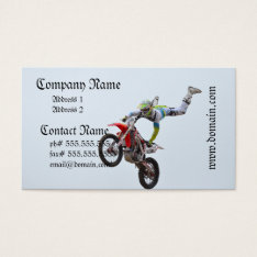 Freestyle Motocross Business Card at Zazzle