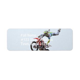 Freestyle Motocross Custom Return Address Label