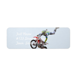 Freestyle Motocross Return Address Label