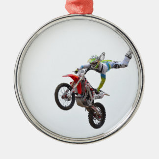 Freestyle Motocross Metal Ornament