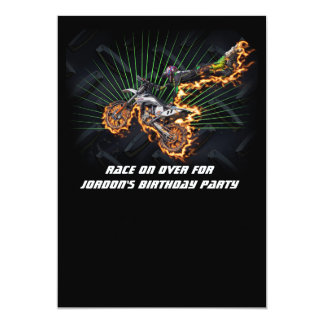 Freestyle motocross rider flying high card