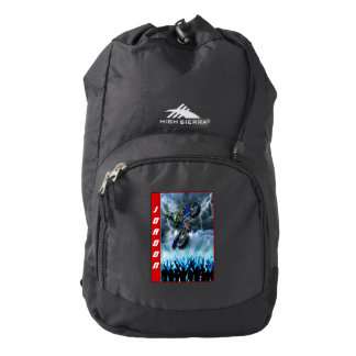Freestyle Motocross rider flying over the crowd Backpack