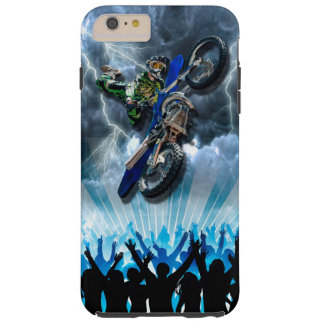 Freestyle Motocross rider flying over the crowd Tough iPhone 6 Plus Case