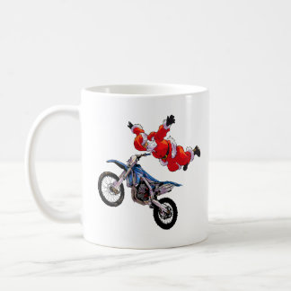 Freestyle motocross Santa Clause showing off Coffee Mug