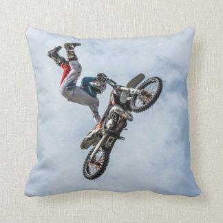 Freestyle Motocross Stunt 4 Throw Pillow