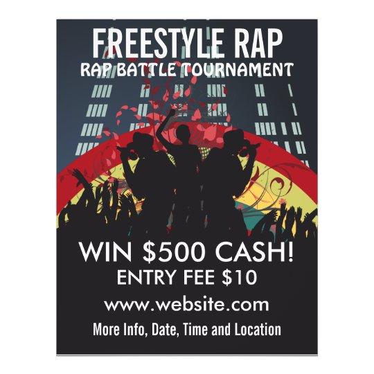 Music Flyer | Freestyle Rap Battle Music Flyer Zazzle Com