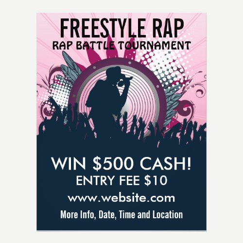 Freestyle Rap Music Flyer