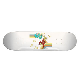 Freestyle Retro Skateboarder Skateboard Deck