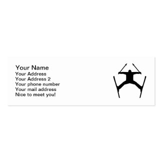Freestyle ski jump business cards