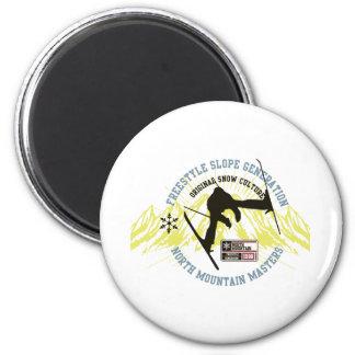 Freestyle Ski Magnet