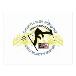 Freestyle Ski Postcard