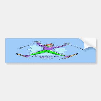 Freestyle Skier Car Bumper Sticker