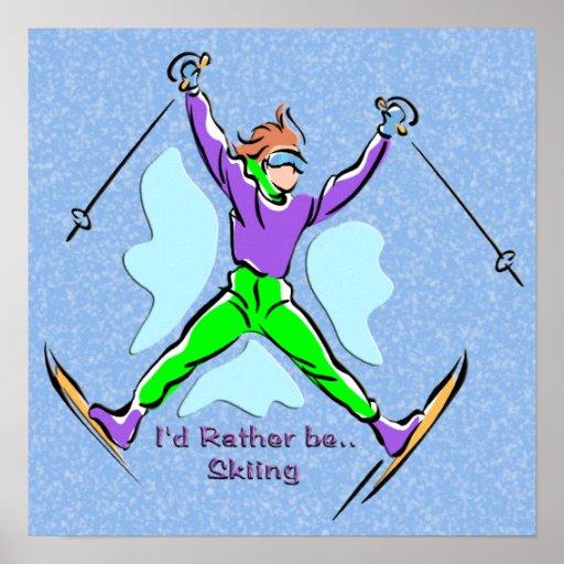 Freestyle Skier Canvas Print