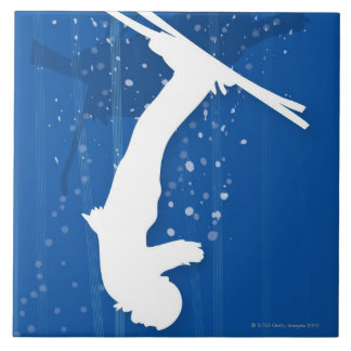 Freestyle Skier Ceramic Tile