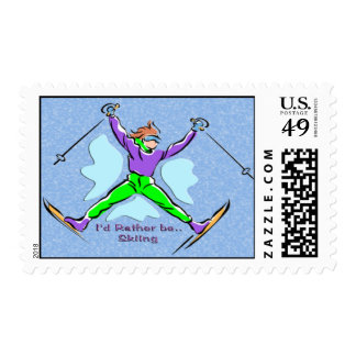 Freestyle Skier Postage
