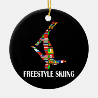 Freestyle Skiing Ceramic Ornament