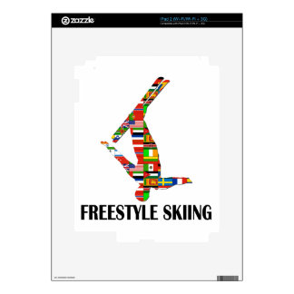 Freestyle Skiing Decal For iPad 2