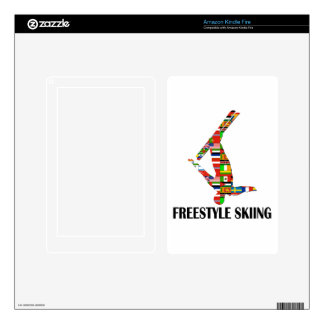 Freestyle Skiing Decal For Kindle Fire