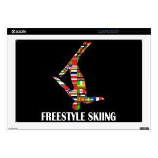 Freestyle Skiing Decal For Laptop