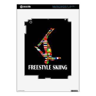 Freestyle Skiing Decals For iPad 3