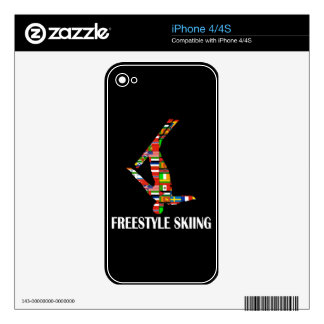 Freestyle Skiing Decals For iPhone 4