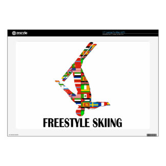 Freestyle Skiing Decals For Laptops