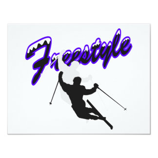 "Freestyle Skiing 4.25"" X 5.5"" Invitation Card"