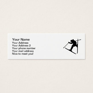Freestyle skiing jump mini business card