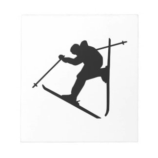 Freestyle skiing jump notepad