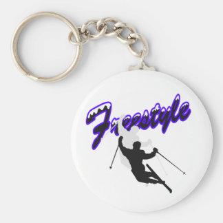 Freestyle Skiing Keychain