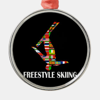 Freestyle Skiing Metal Ornament