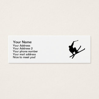Freestyle skiing mini business card