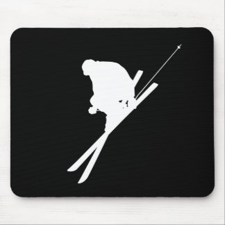 Freestyle skiing mouse pad