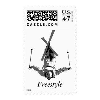 Freestyle Skiing Postage