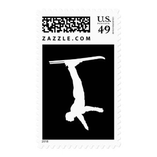 Freestyle skiing postage stamp