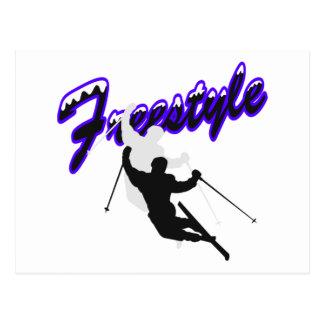 Freestyle Skiing Postcard