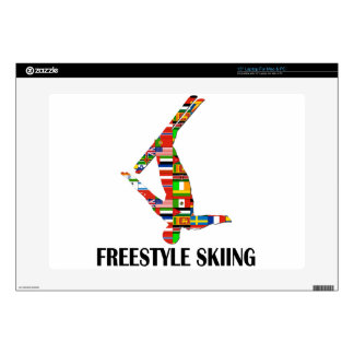 "Freestyle Skiing Skin For 15"" Laptop"