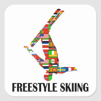 Freestyle Skiing Square Sticker