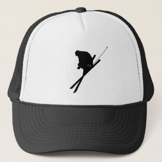 Freestyle skiing trucker hat