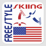Freestyle Skiing United States Stickers